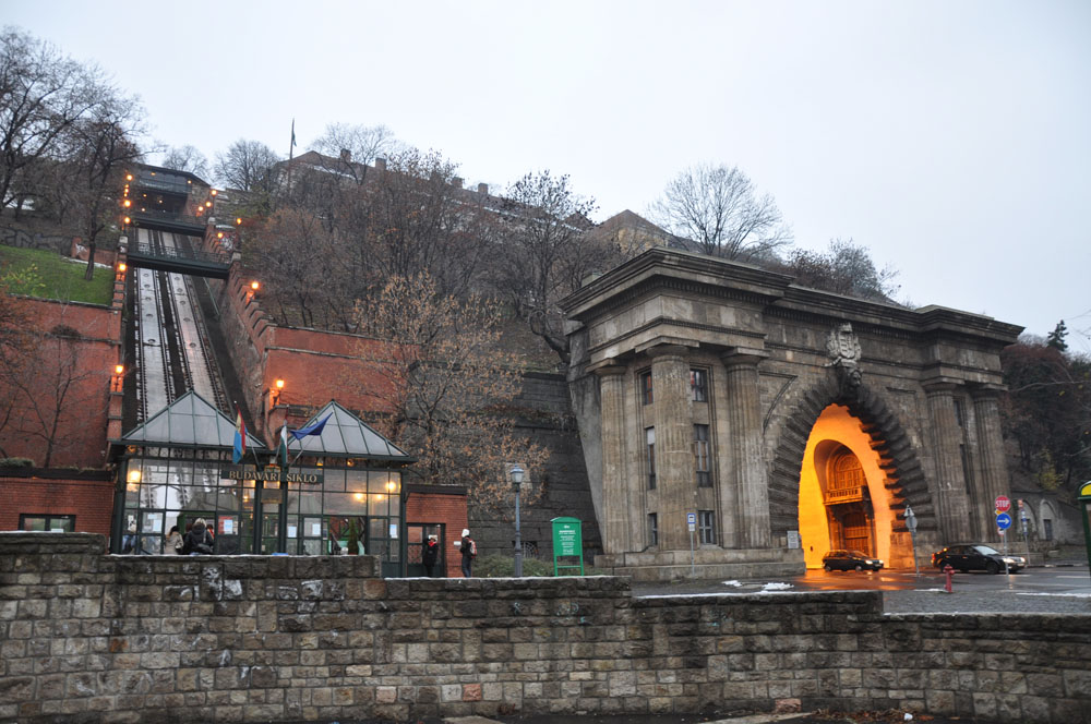 Funicular to the Buda Castle Hill in Budapest